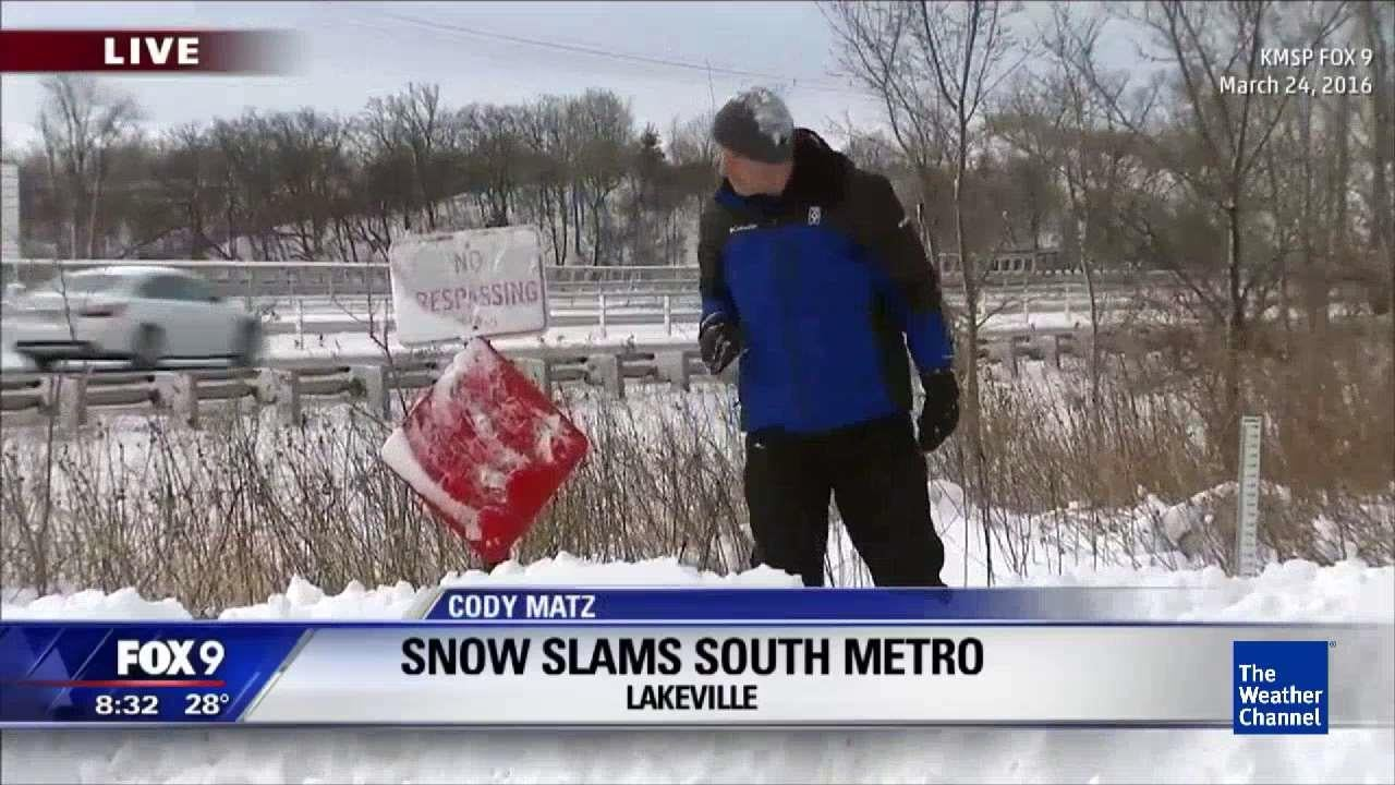 reporter busted trespassing in snow
