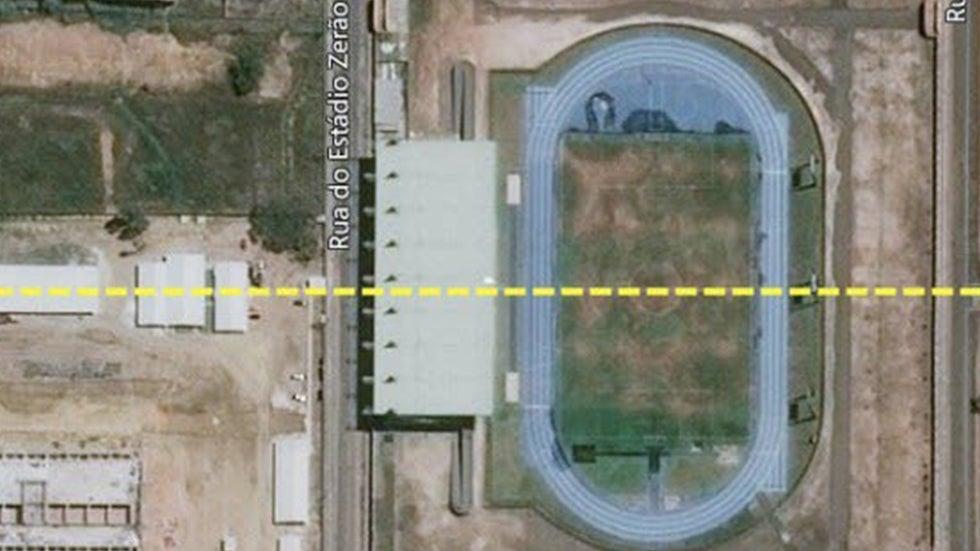Soccer Stadium in Brazil Spans Two Hemispheres