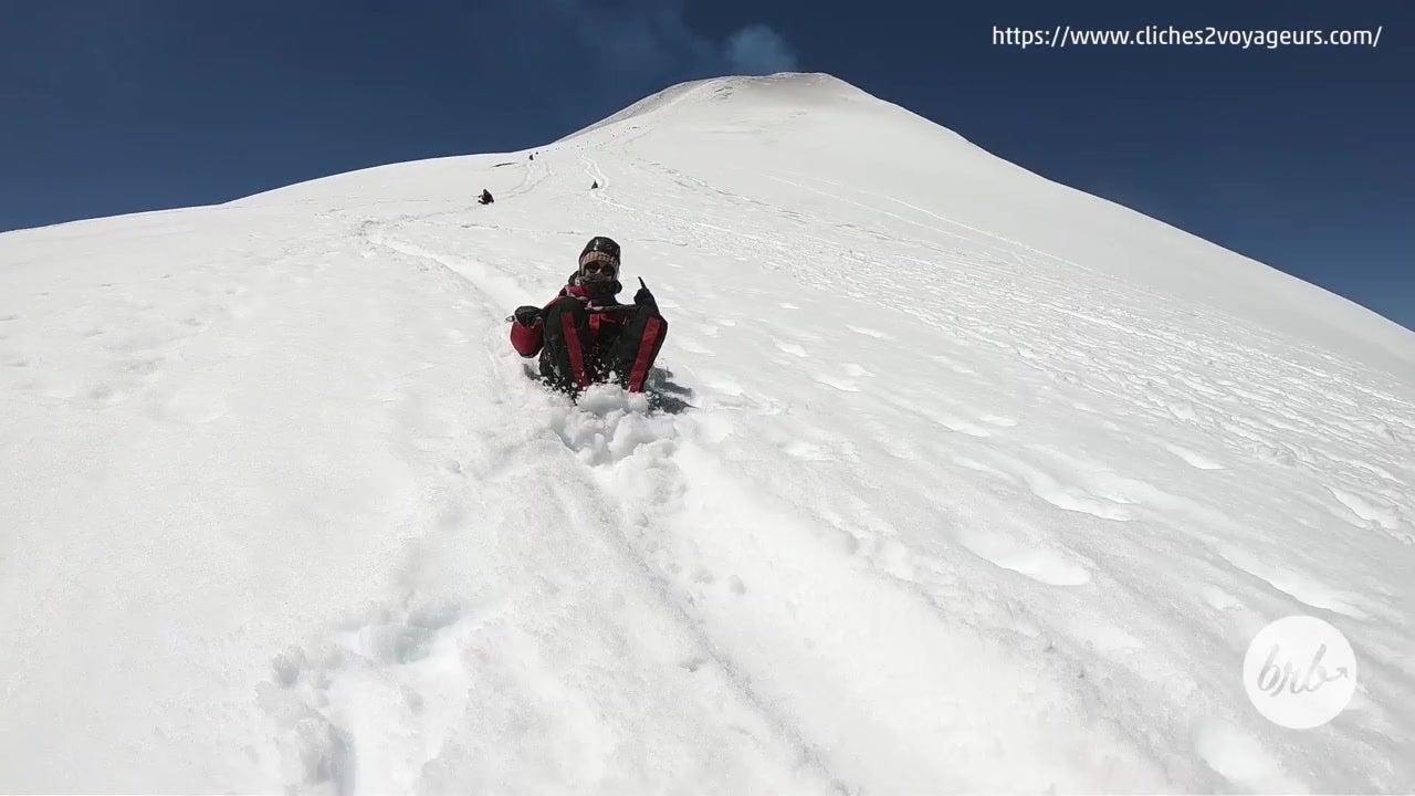 Ride a Sled Down Villarrica Volcano in Chile