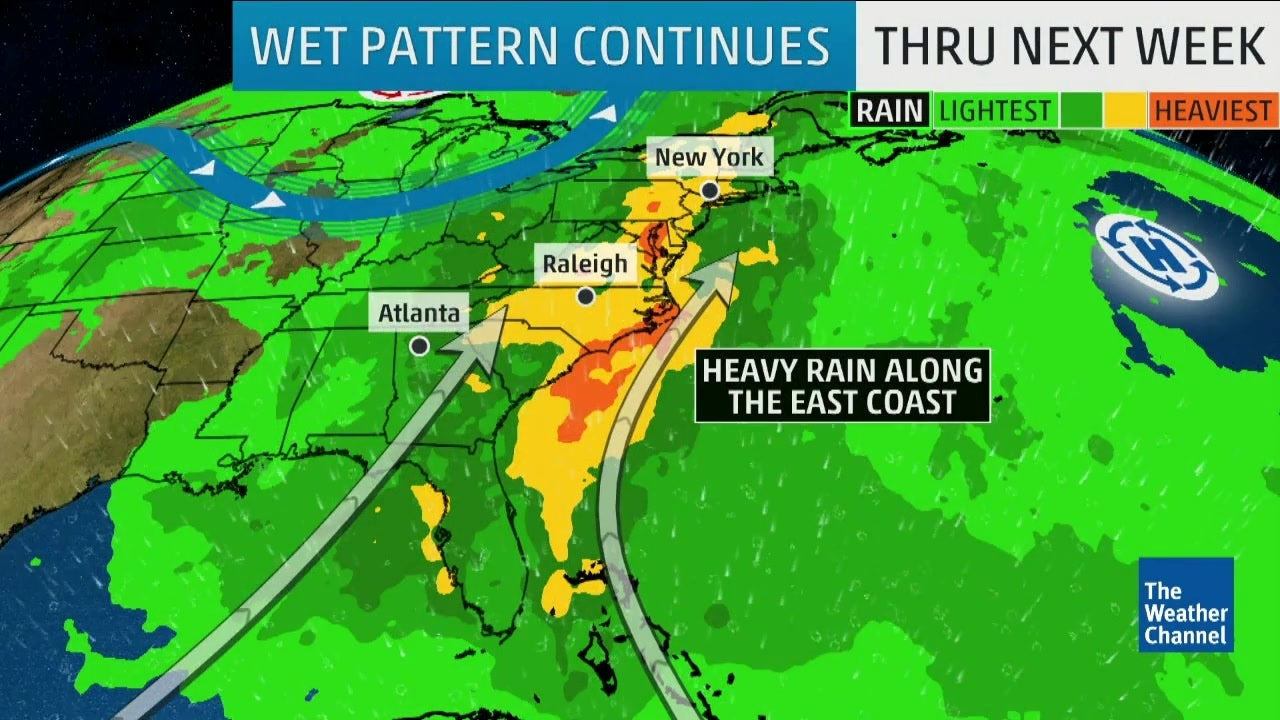 Map Of East Coast Florida.Rainy Weekend Ahead For The East Coast The Weather Channel