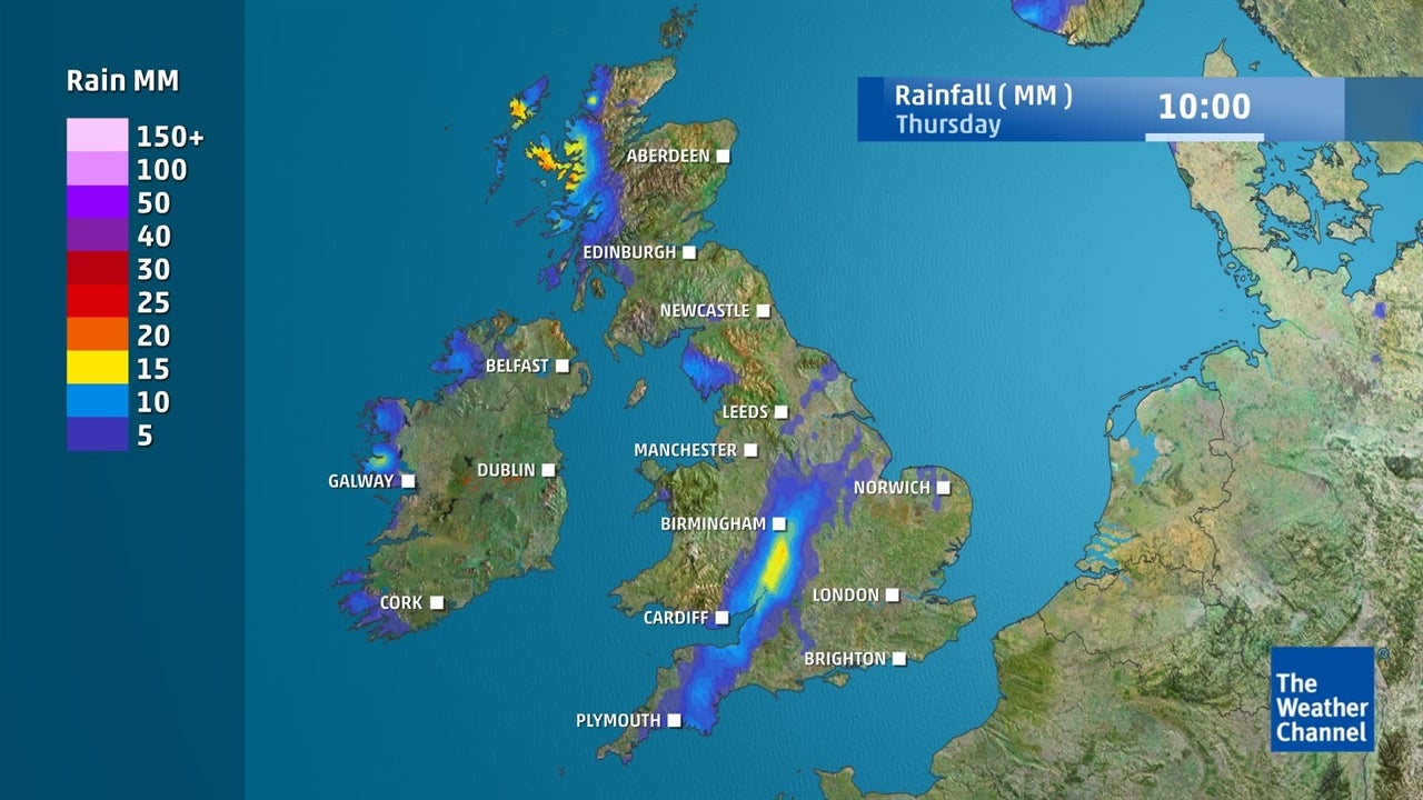 UK weather: How much rain will fall this week?