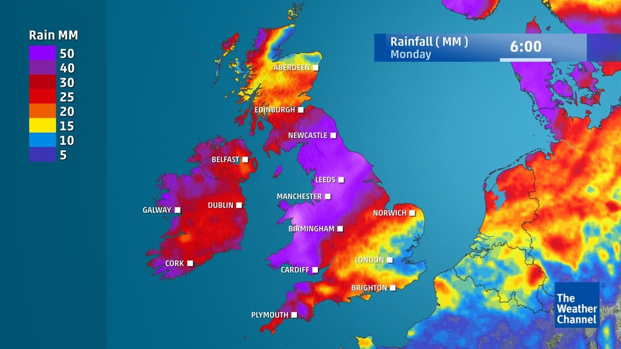UK forecast: How much rain is forecast to fall this week?
