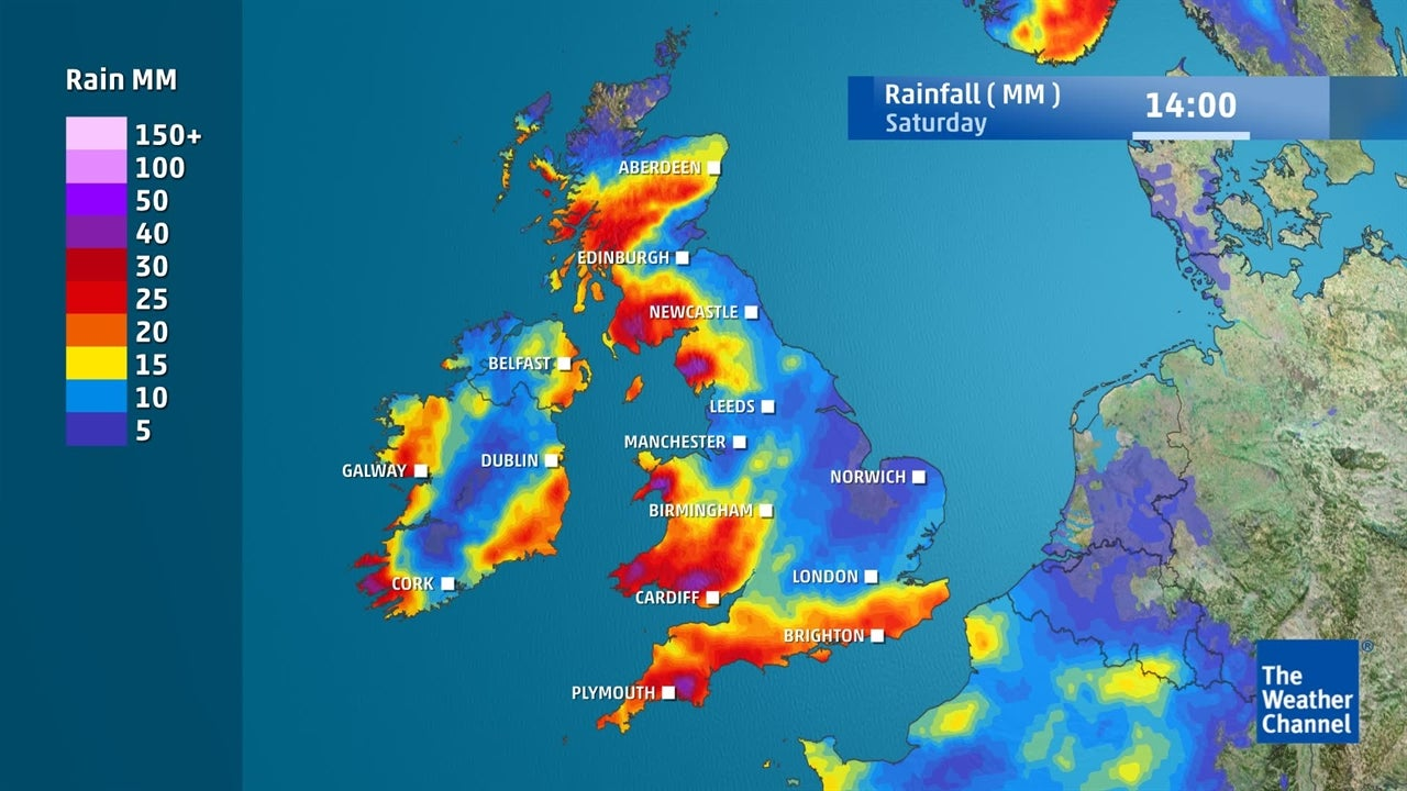 VIDEO: How much rain is predicted for the weekend?