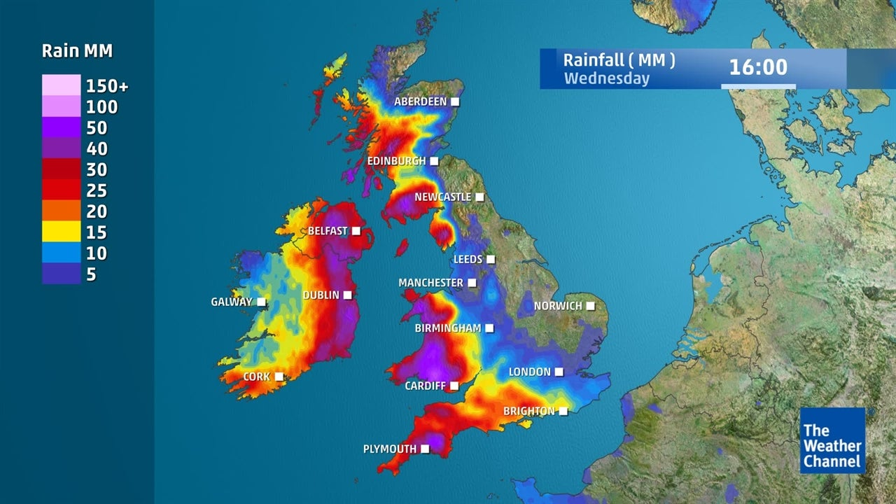 UK Weather: Where and when will it rain in the coming days?