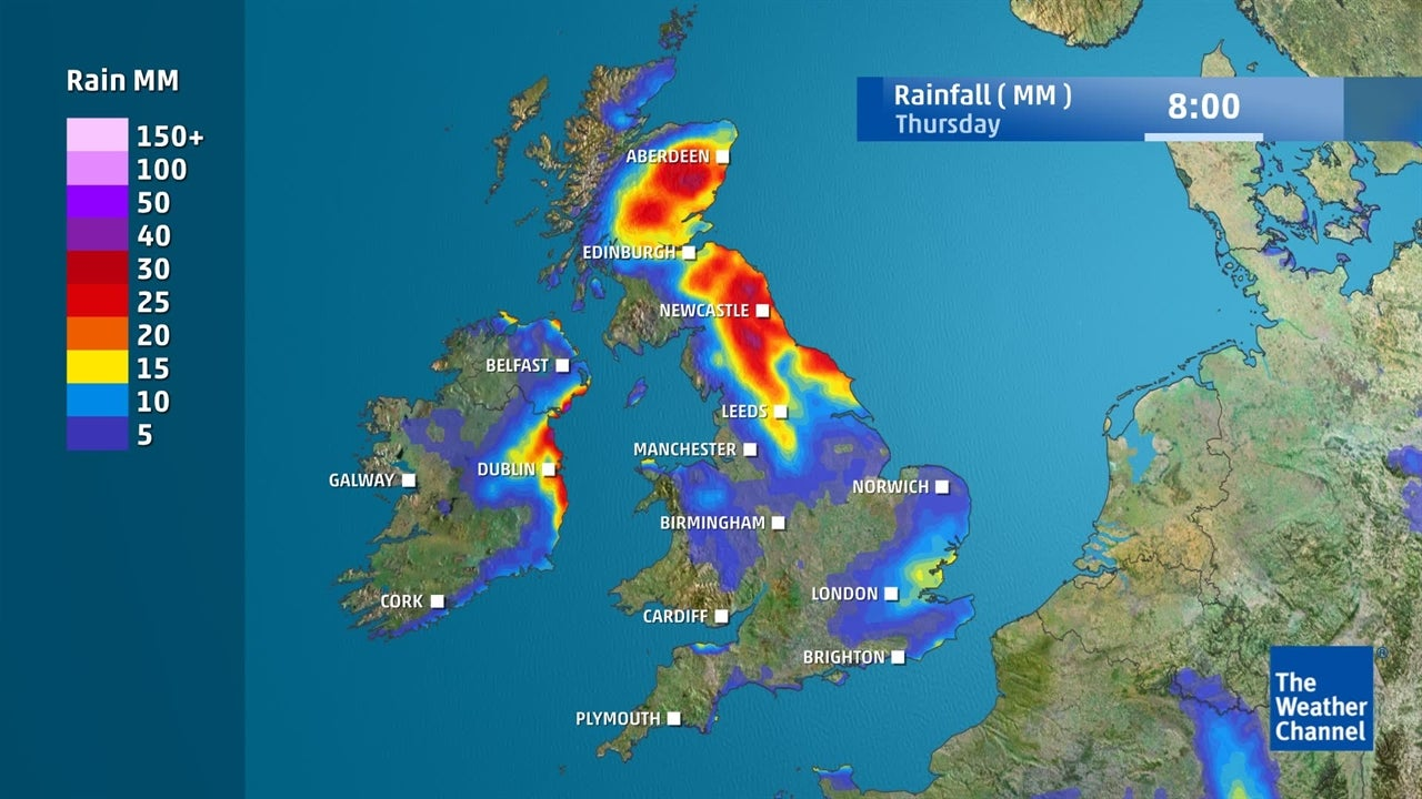 UK Weather: Where and when will it rain this week?