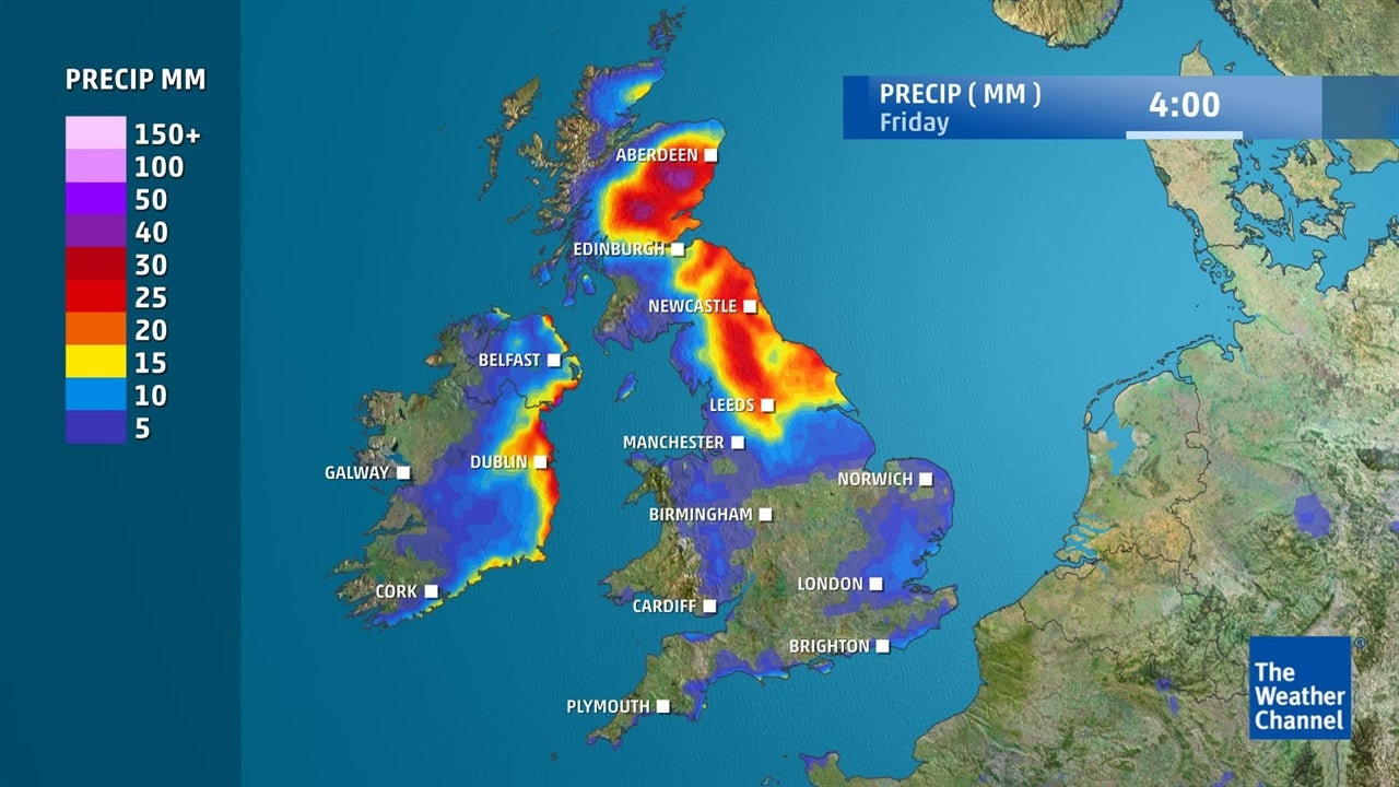 VIDEO: How much rain will fall in the UK this week?