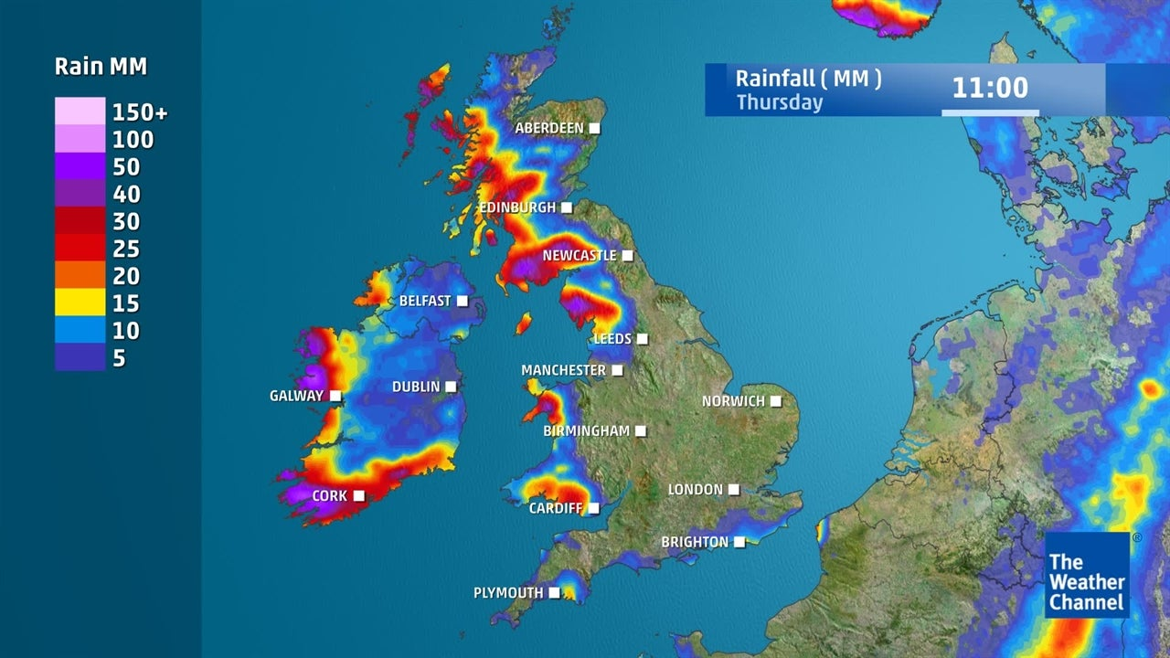 UK Weather: How much rain is predicted for the rest of this week?