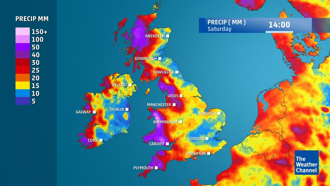 UK weather: How much rain is expected in next few days?