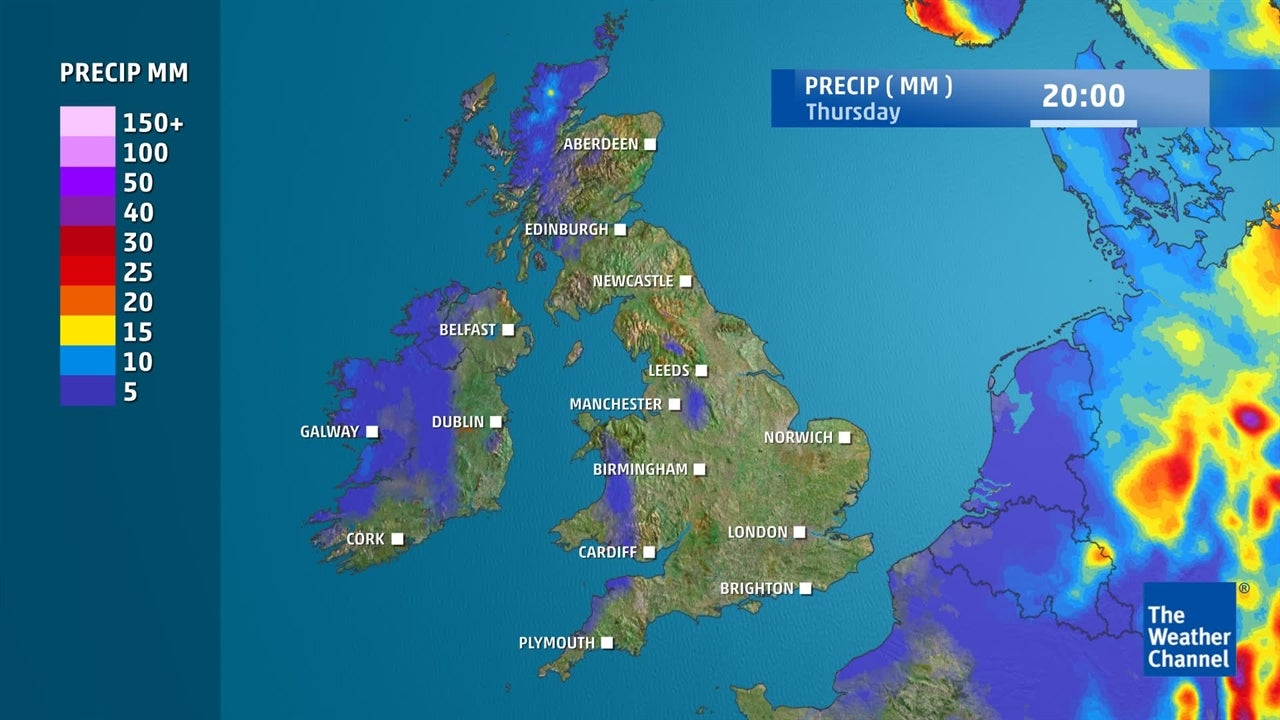 uk weather  how much rain is expected this week