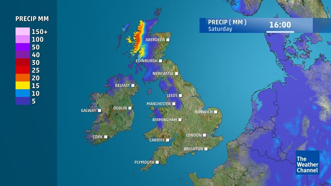 uk weather  will it rain this weekend