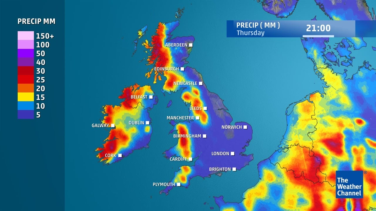WATCH: Torrential rain expected overnight