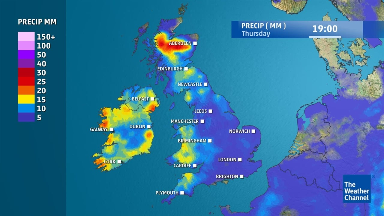 Where and when is it expected to rain in the coming days?
