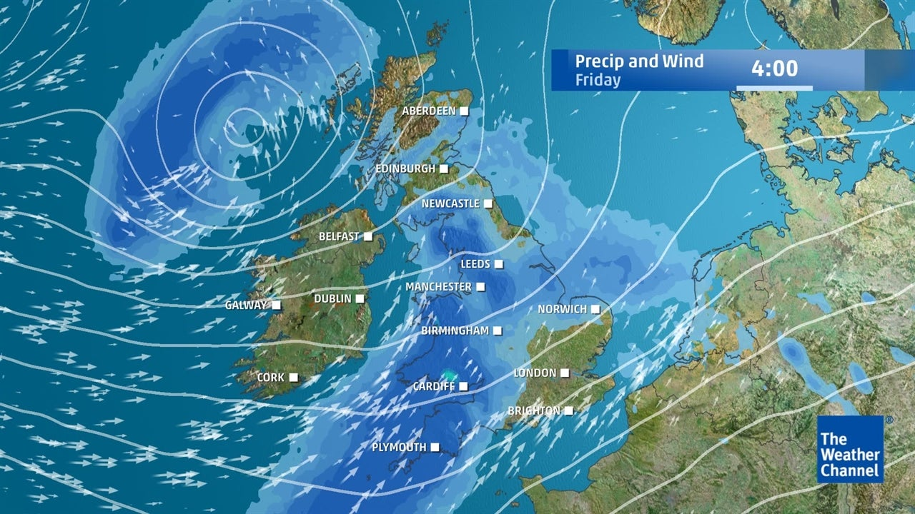 UK weather: Staying wet and windy  this week