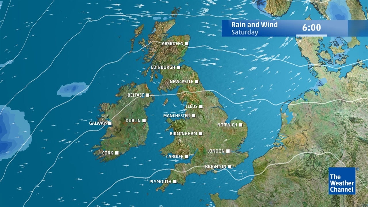 UK weather: Expected rainfall and wind speeds for the next few days