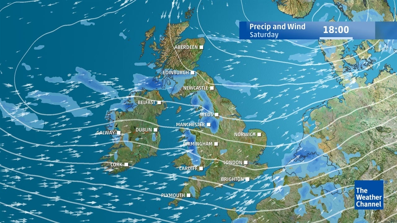 UK weather: Remaining wet and windy for a time