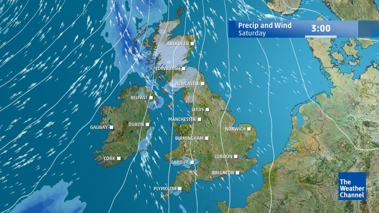 VIDEO: Predicted wind and rain for the next few days