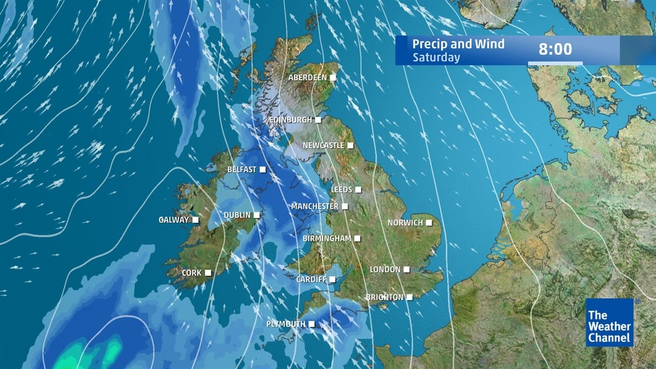 UK weather: Wet and windy few days ahead