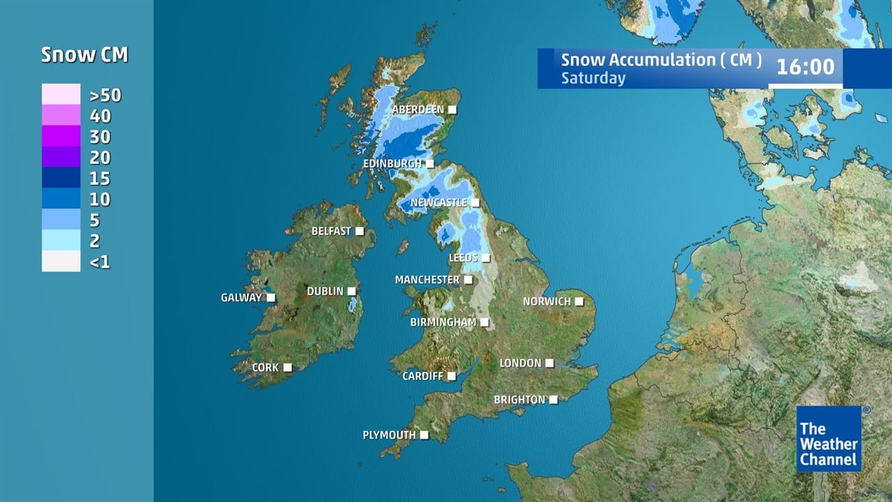 UK weather: Plenty of snow expected by weekend