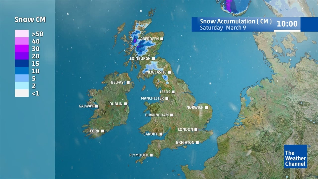 watch  snow forecast for weekend
