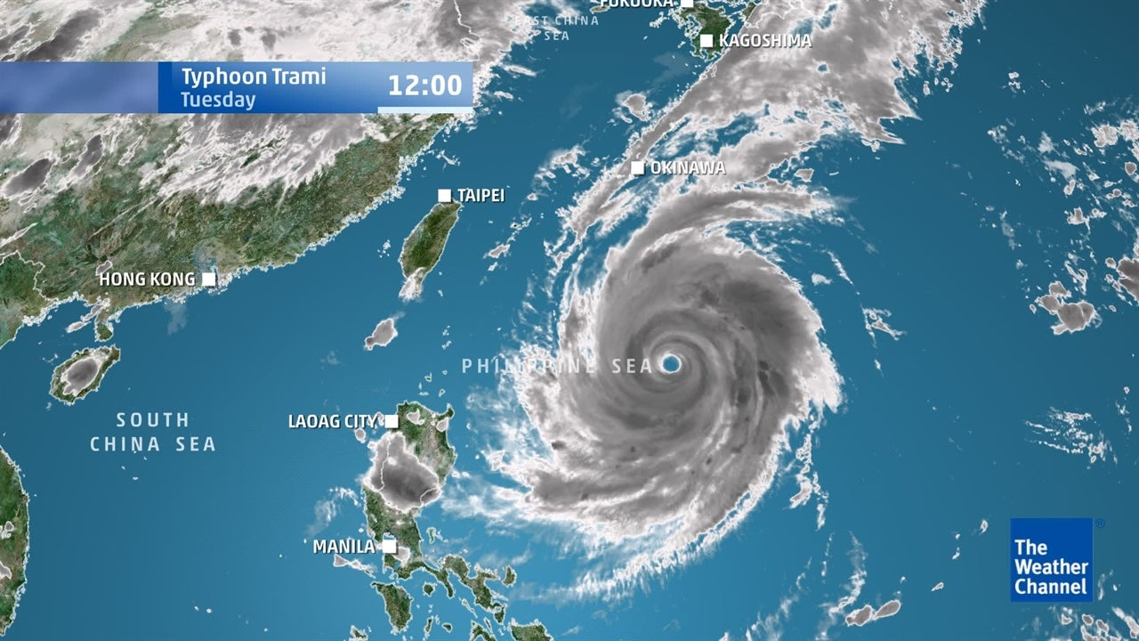 Typhoon Trami: Latest path of tropical storm