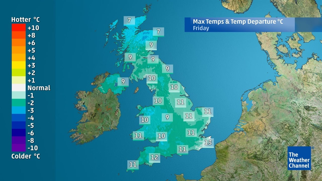 How cold is it going to get in the UK this week?