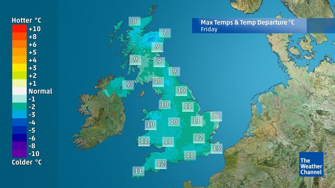 How low will temperatures drop this week?
