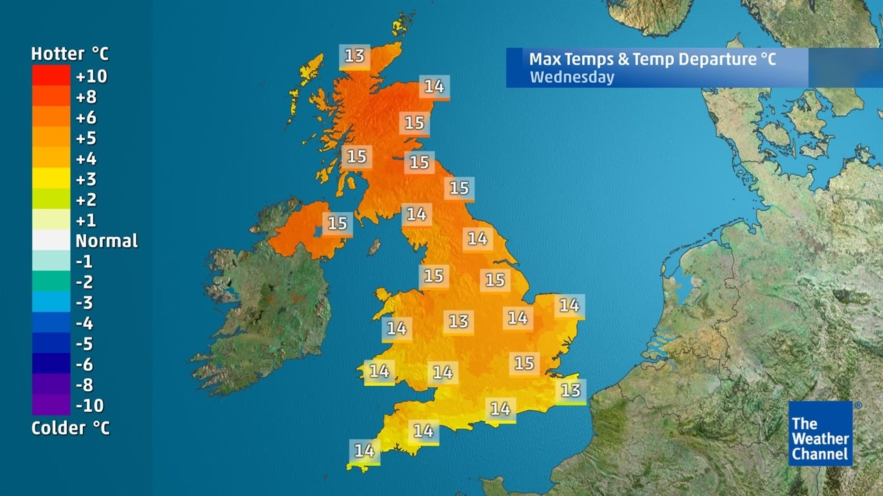 UK Weather: Becoming very mild in next few days