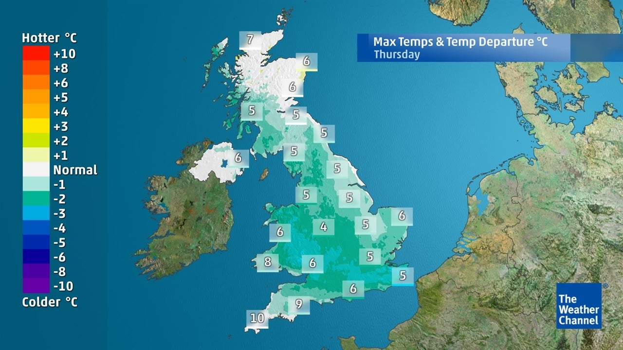 UK weather: How far will temperatures fall?