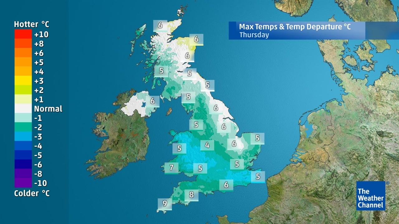 UK weather: How far will temperatures fall this week?