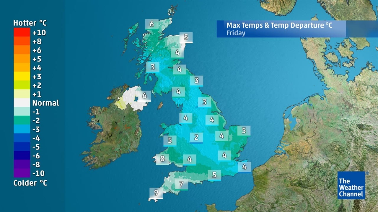 UK weather: How cold will it get this week?