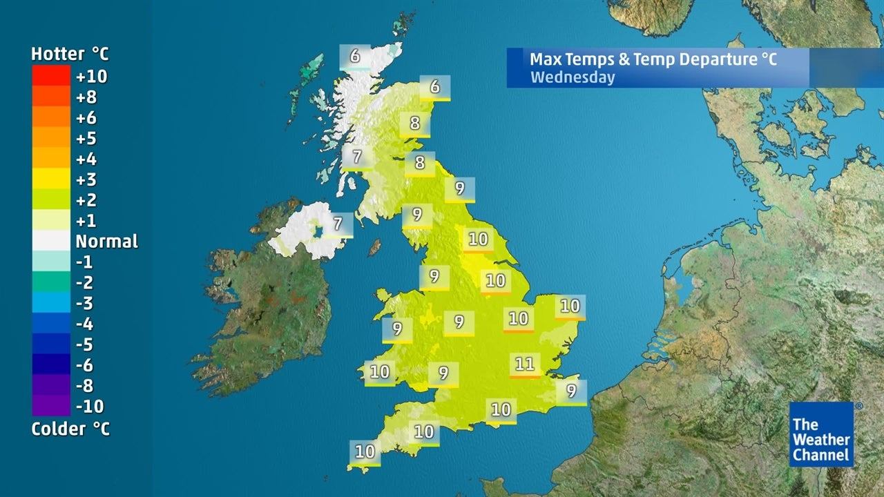 UK Weather: When are temperatures set to fall?