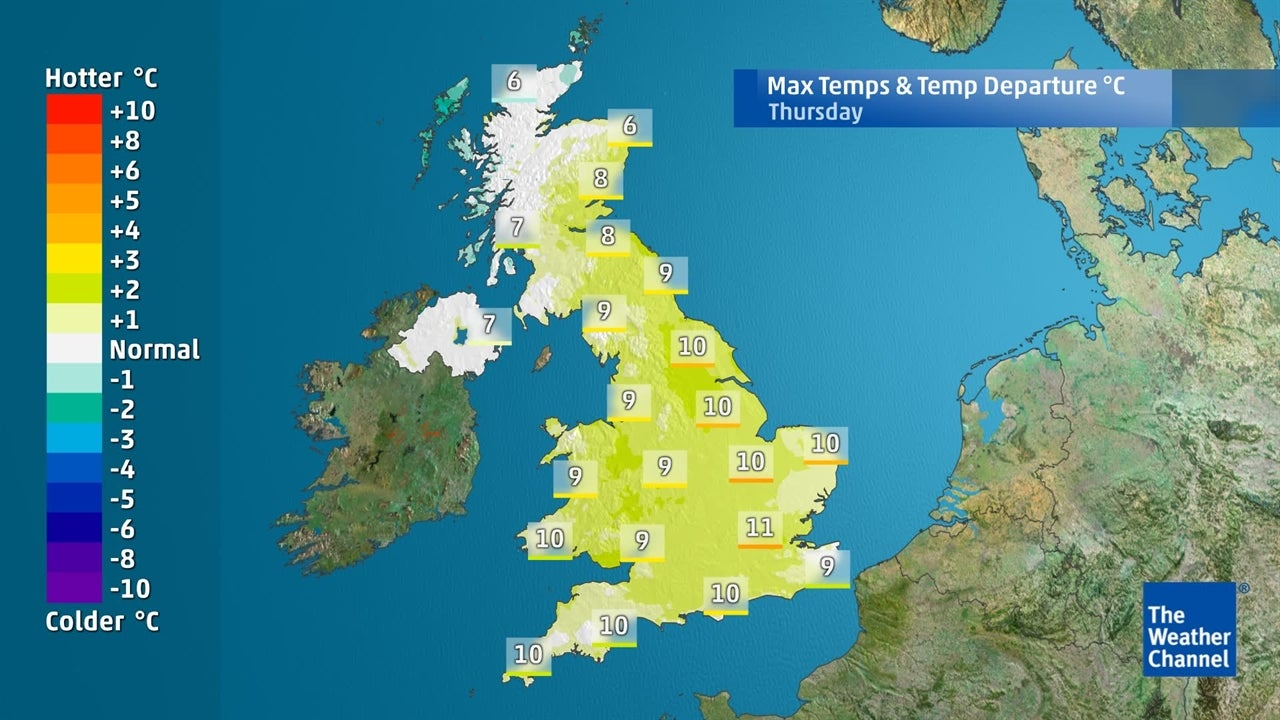 UK weather: Will temperatures will falling very far this week?