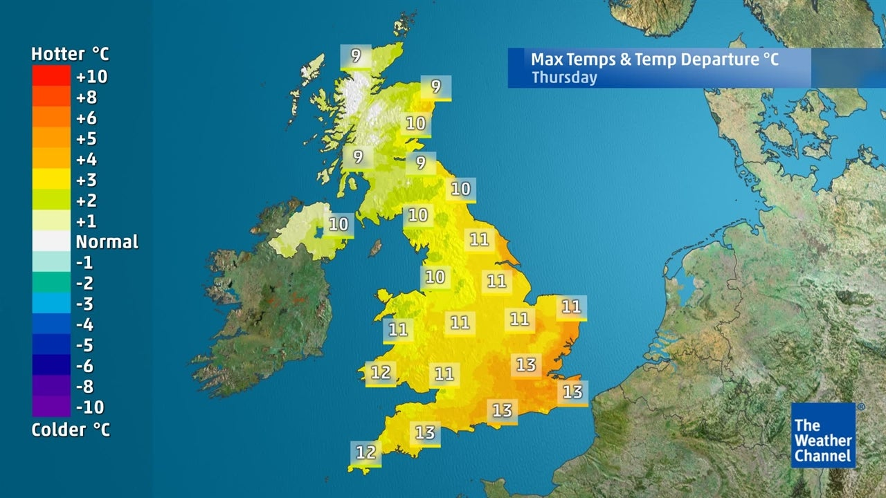 WATCH: Temperatures staying on the cool side