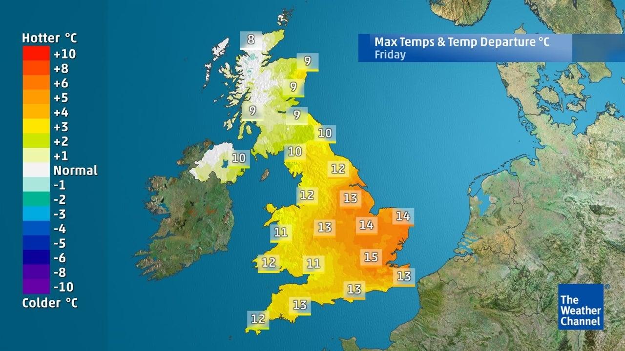 WATCH: Temperatures surging ahead this week