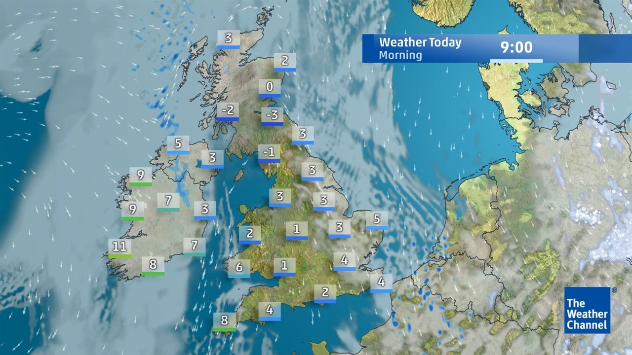 Watch today's latest UK weather forecast
