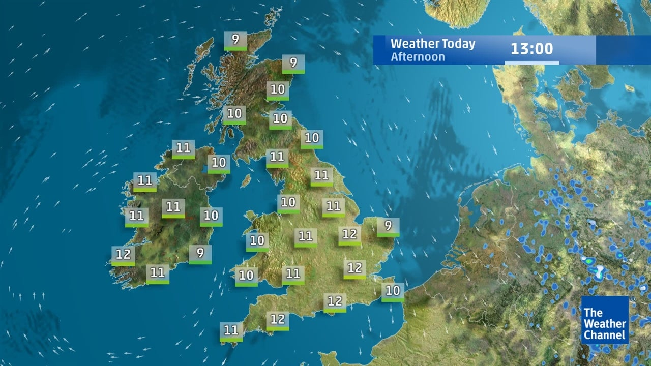 Latest UK weather forecast from March 25