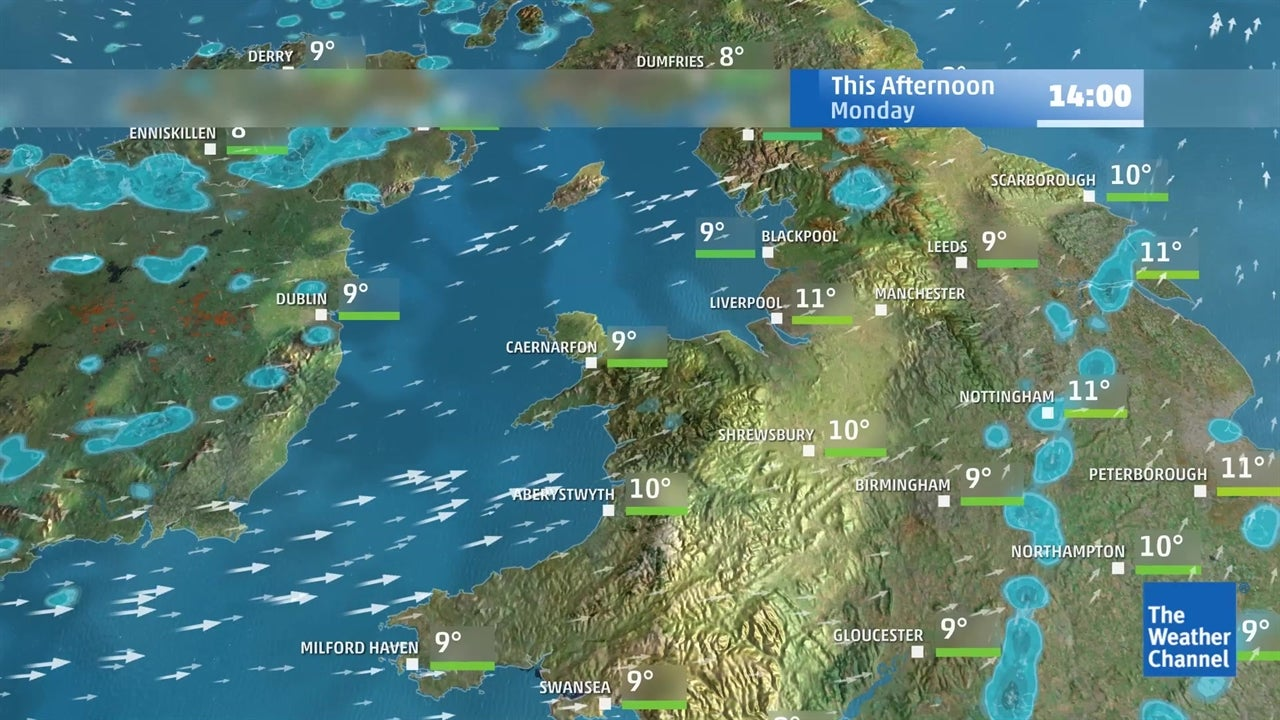 europe weather  latest five