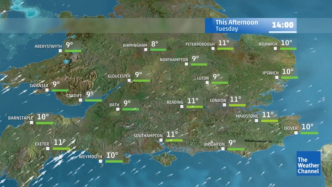Today's UK weather forecast - February 19