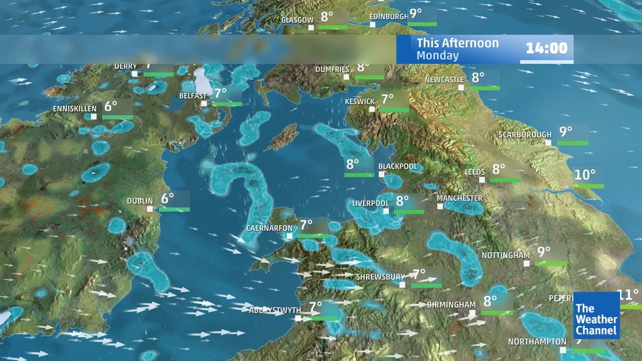 today u0026 39 s latest uk weather forecast for march 4