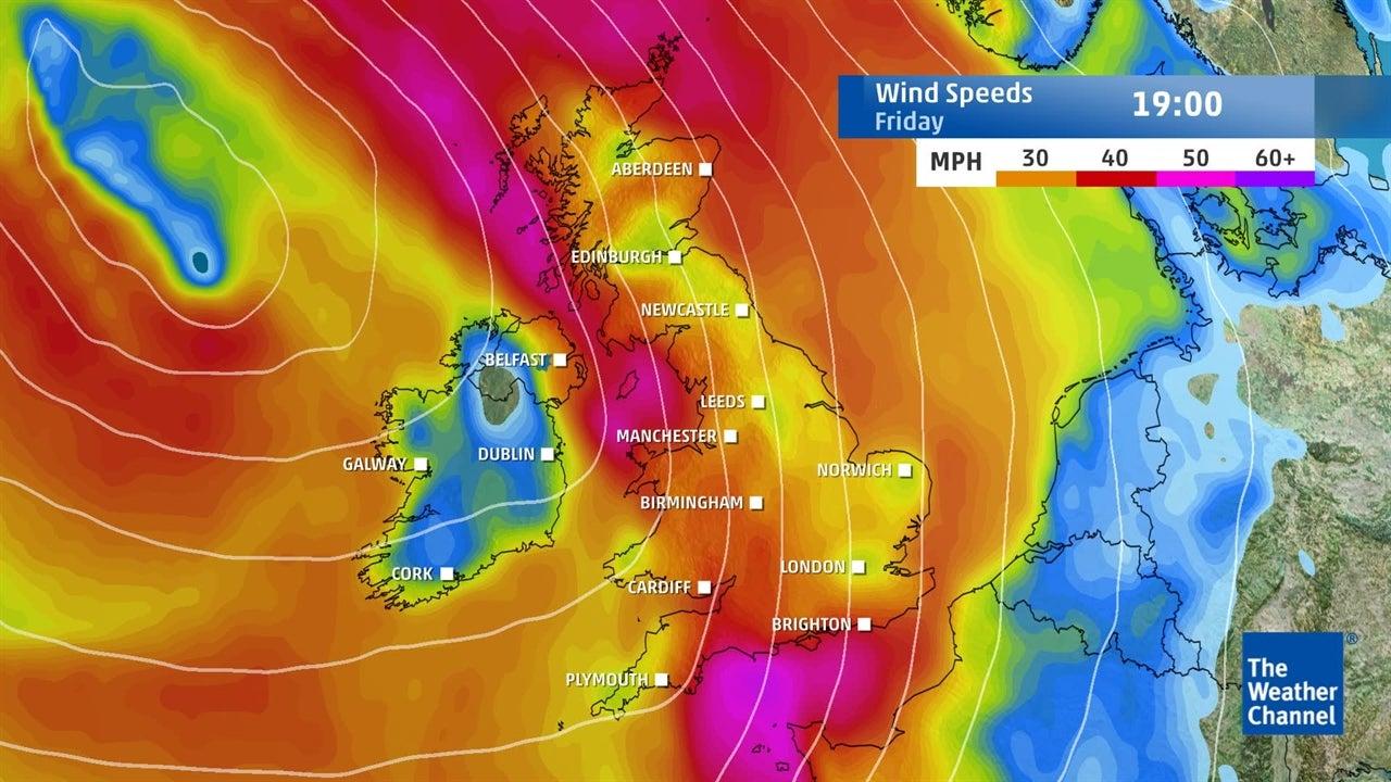UK Weather: Expected weekend wind speeds