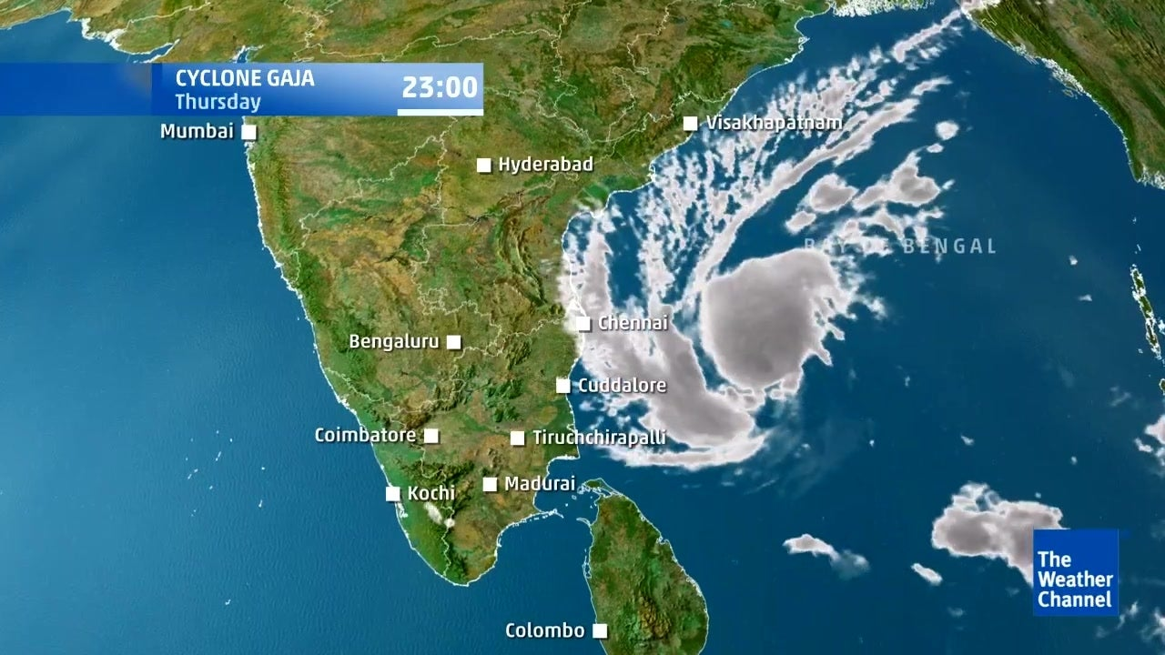 Forecast for Cyclonic Storm Gaja