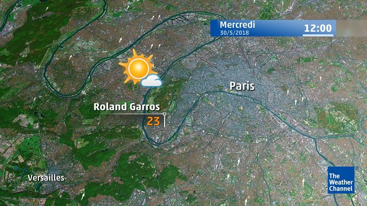 Roland-Garros : la météo du 30 mai