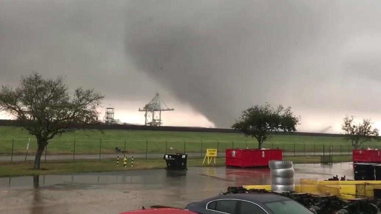 tornado in michoud area of new orleans