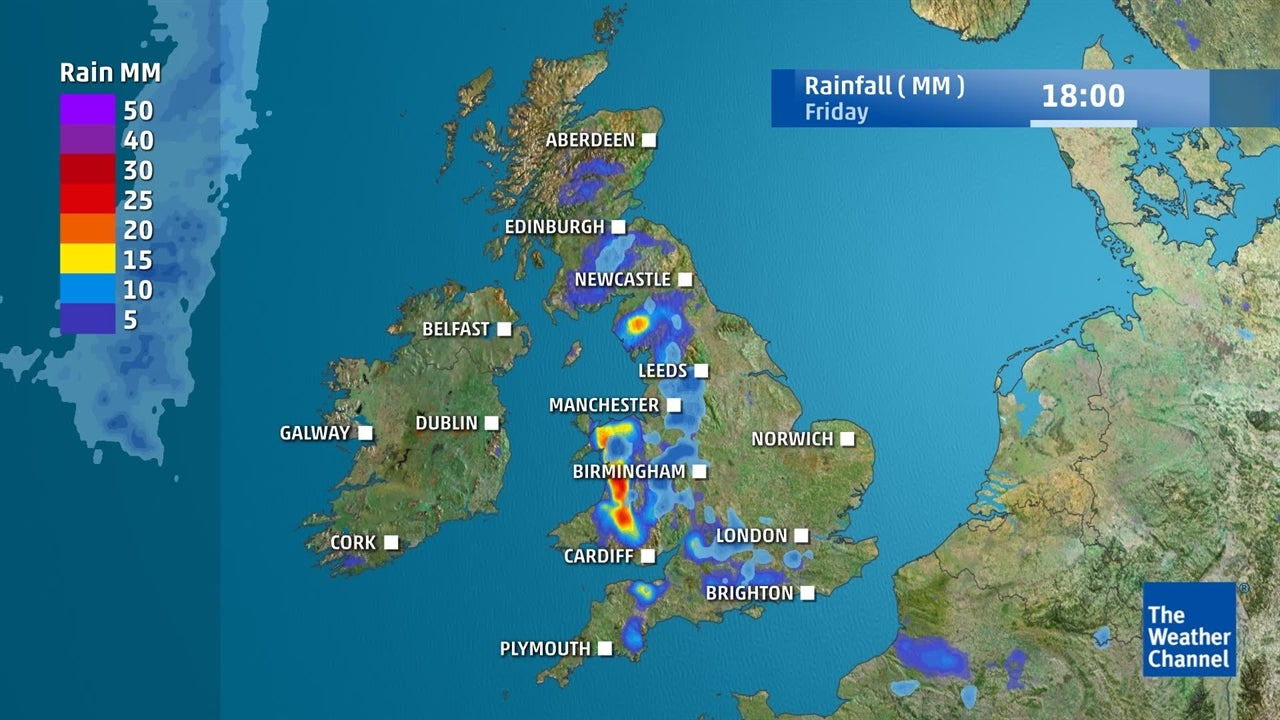 UK weather: How much rain is set to fall in run up to the weekend?