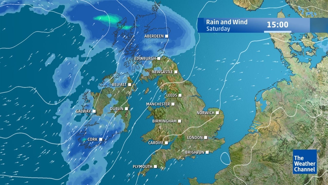 Uk Forecast Turning Cooler With Wind And Rain Arriving From The West Weather Channel