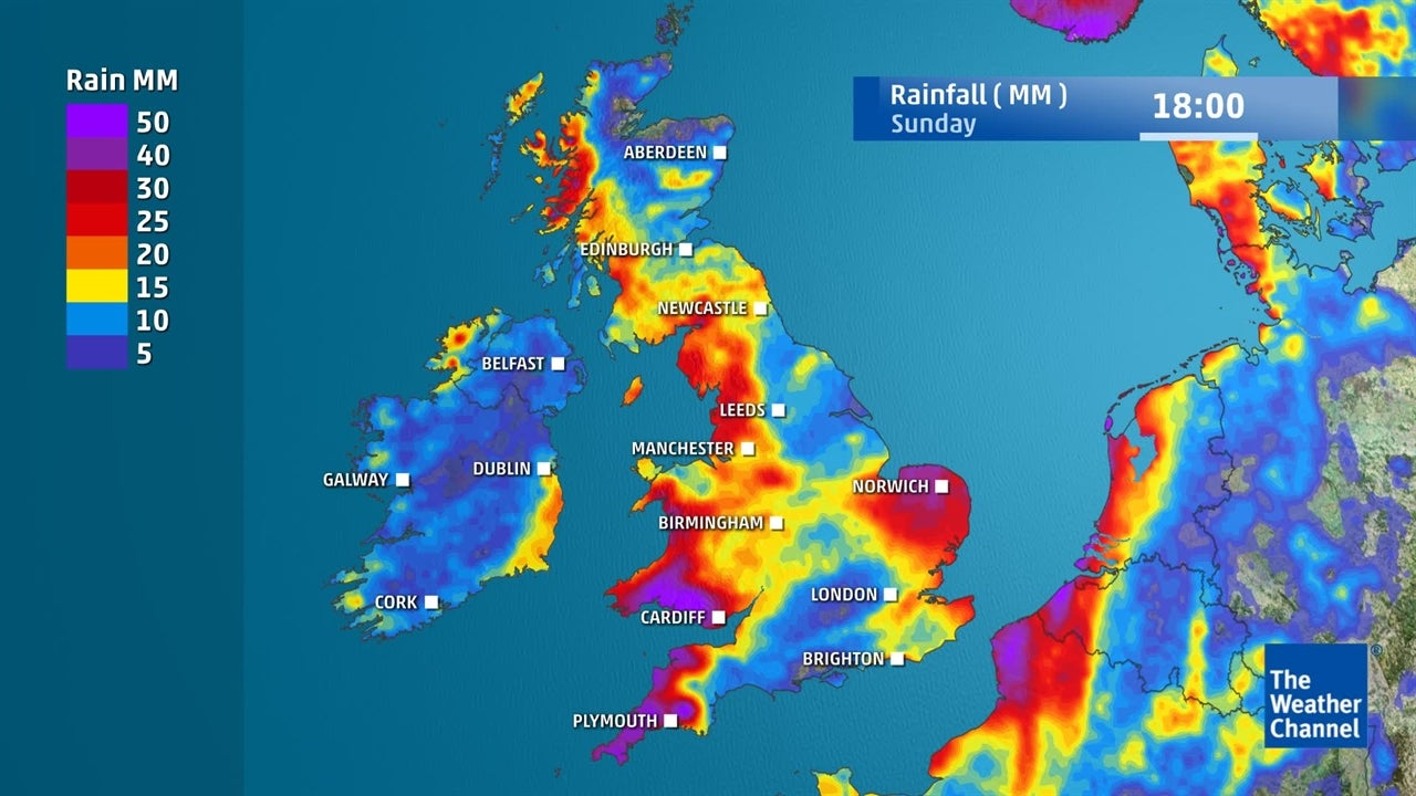 UK washout weekend: How much rain will fall by the end of the week?
