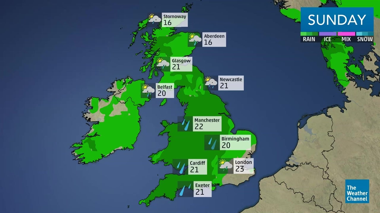 Latest UK weather forecast: August 11-12