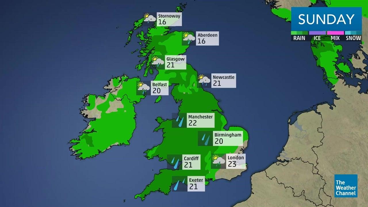 Latest UK weather forecast: August 11-12