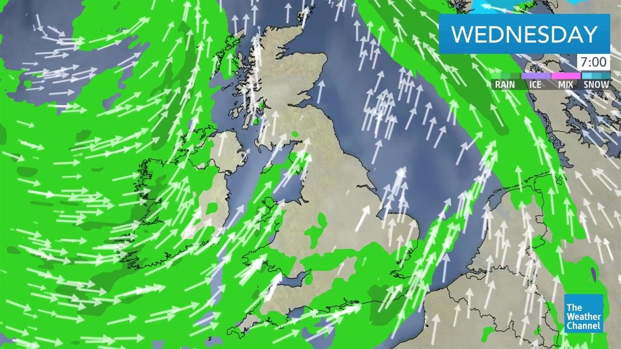 latest  uk weather forecast video