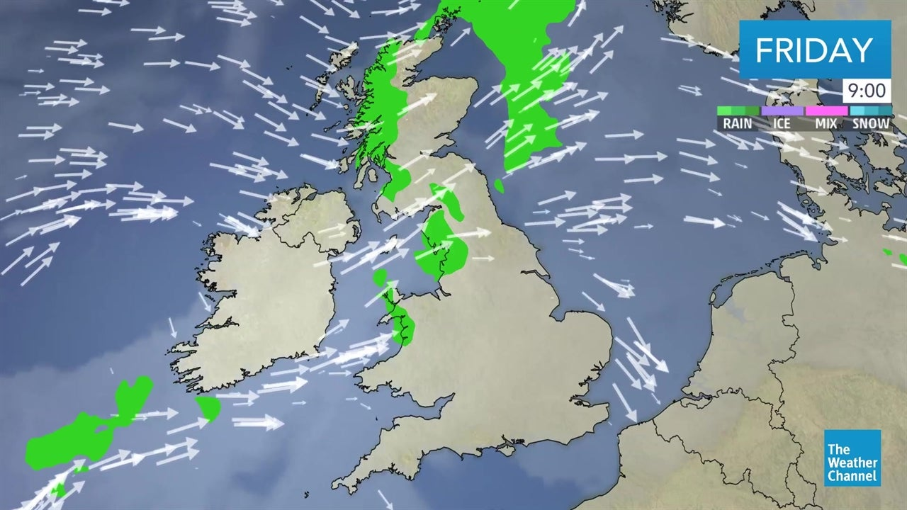 watch  uk weather forecast video